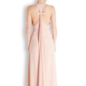 Jill Jill Stuart Blush Racer Back Crepe Gown